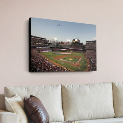 Inside Rangers Ballpark in Arlington  - Flyover Canvas Print